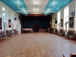 Church Hall - stage curtains closed